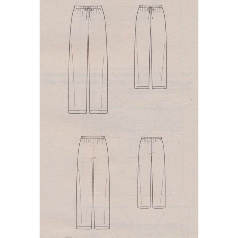 Simplicity 8022 Løs buks uden sidesøm til børn og voksne-33