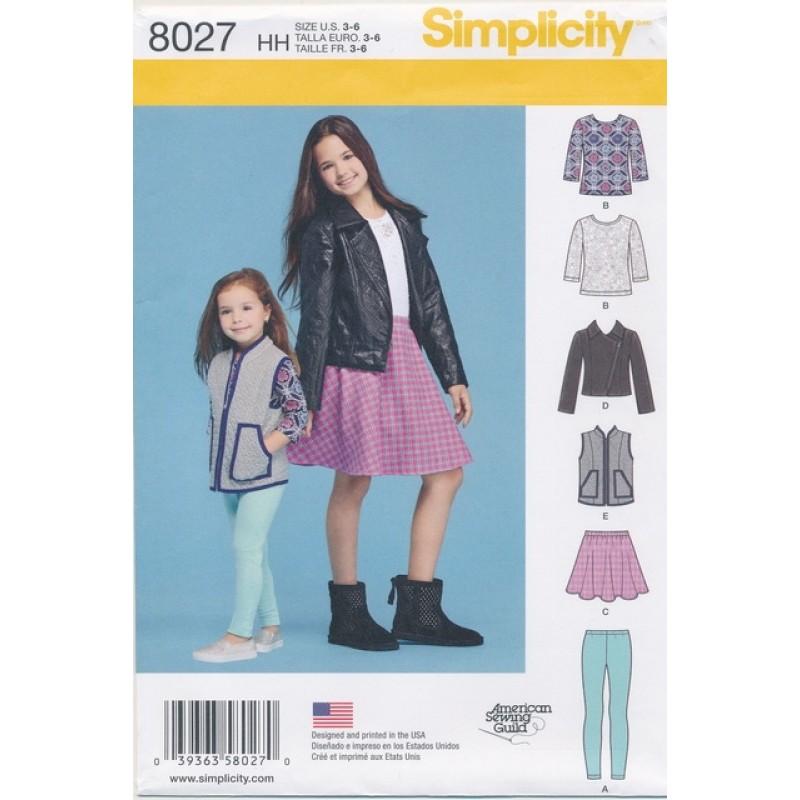 Simplicity 8027 pige jakke/t-shirt/nederdel/gamacher-31