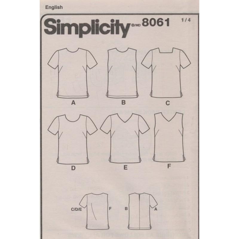 Simplicity 8061 Bluse Top til fast stof-35
