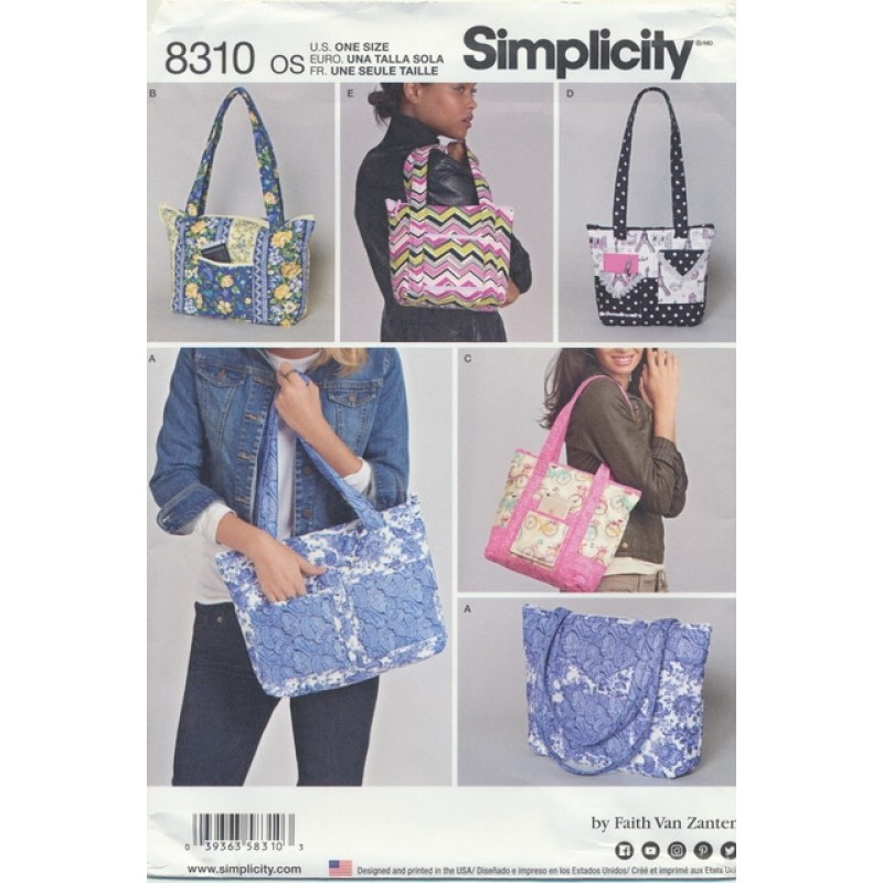 Simplicity 8310 Tasker 29x32 cm.-05