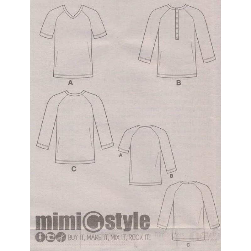 Simplicity 8613 Herre t-shirt med rund og V-hals-32