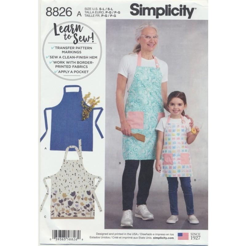 Simplicity 8826 Forklæde til barn og voksen-03