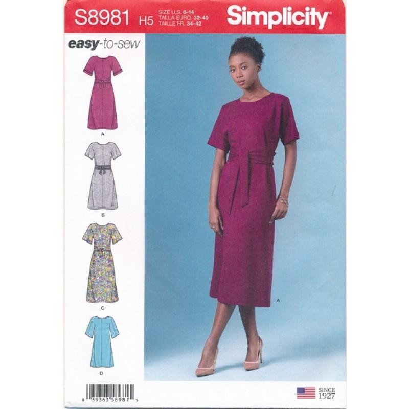 Simplicity 8981 Enkel Kjole til fast stof | Easy-to-sew-37