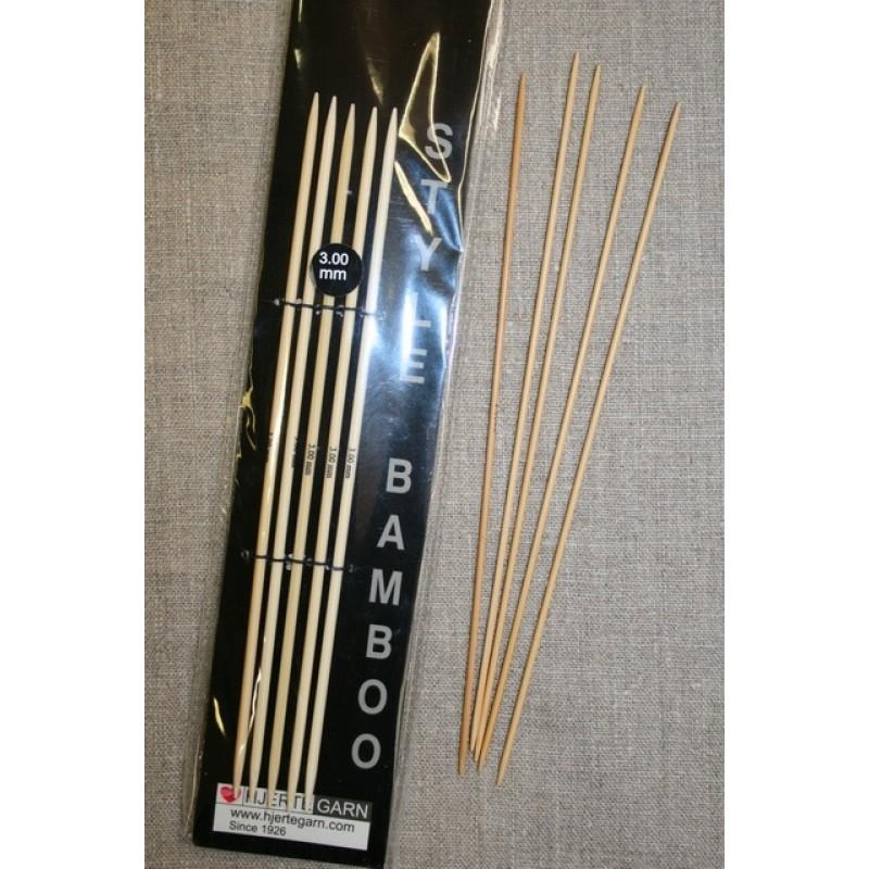 Strømpepinde bambus str 2-3