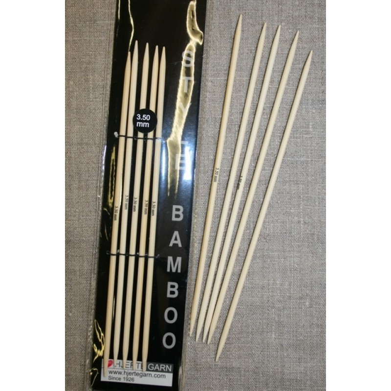 Strømpepinde bambus str 3½+5