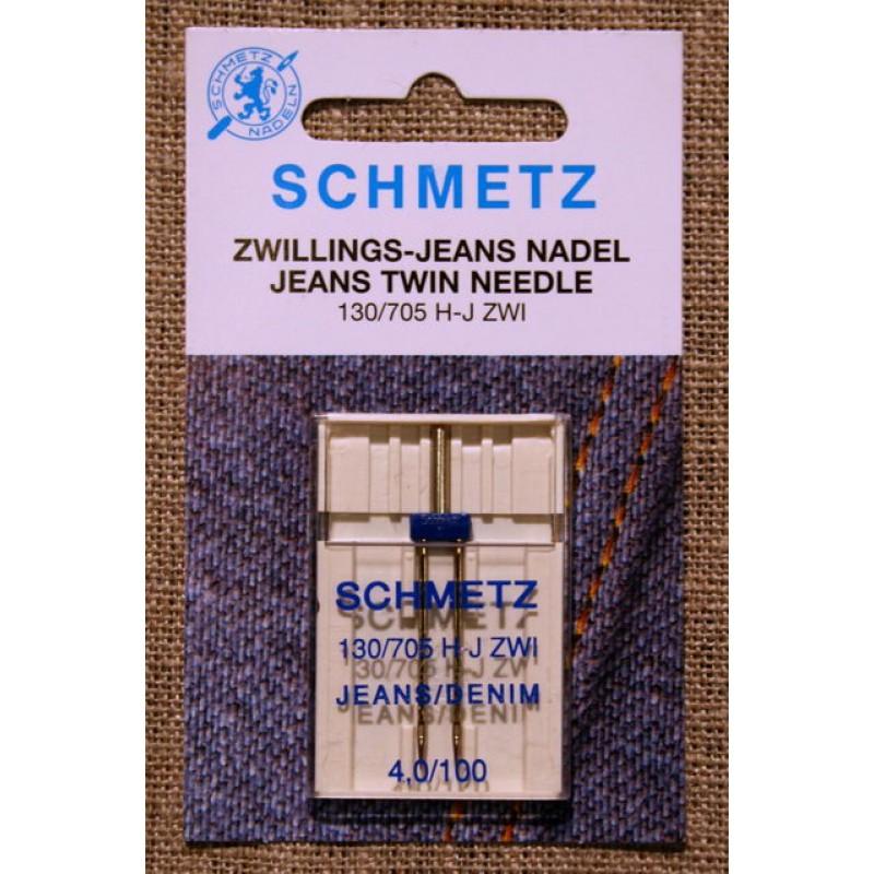 Symaskine Tvillingenål jeans, 4 mm.-31