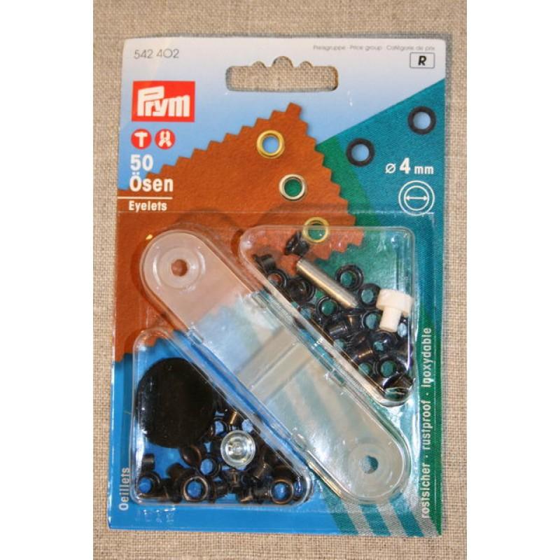 Prym Snøreringe 4 mm. oxyderet-31