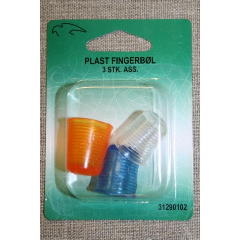 Fingerbøl plast, 3 stk.-31
