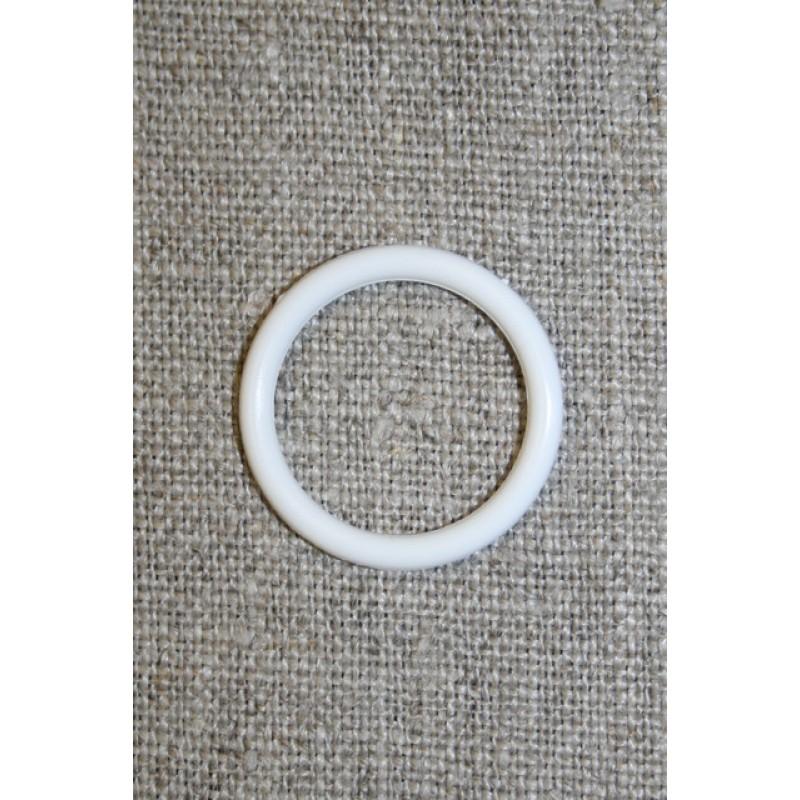 Plastring Gardin ring hvid 18 mm.-33