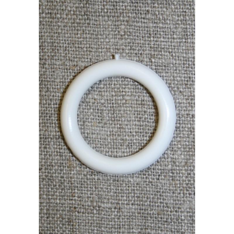 Plastring Gardin ring hvid 20 mm.-33