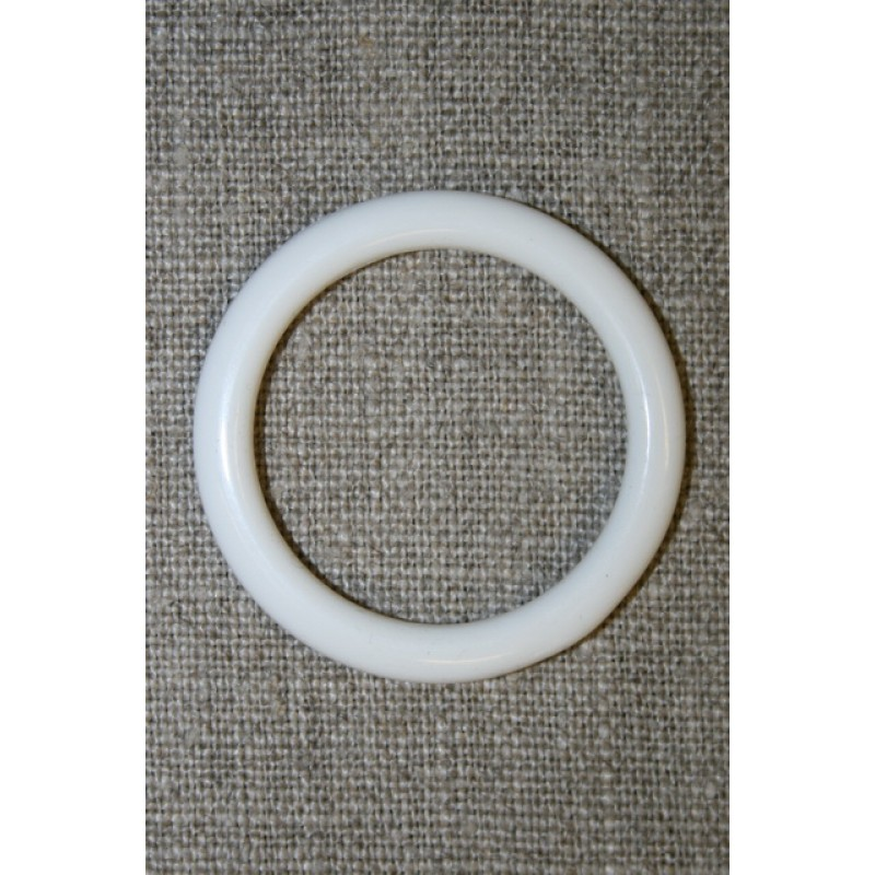 Plastring Gardin ring hvid 29 mm.-35