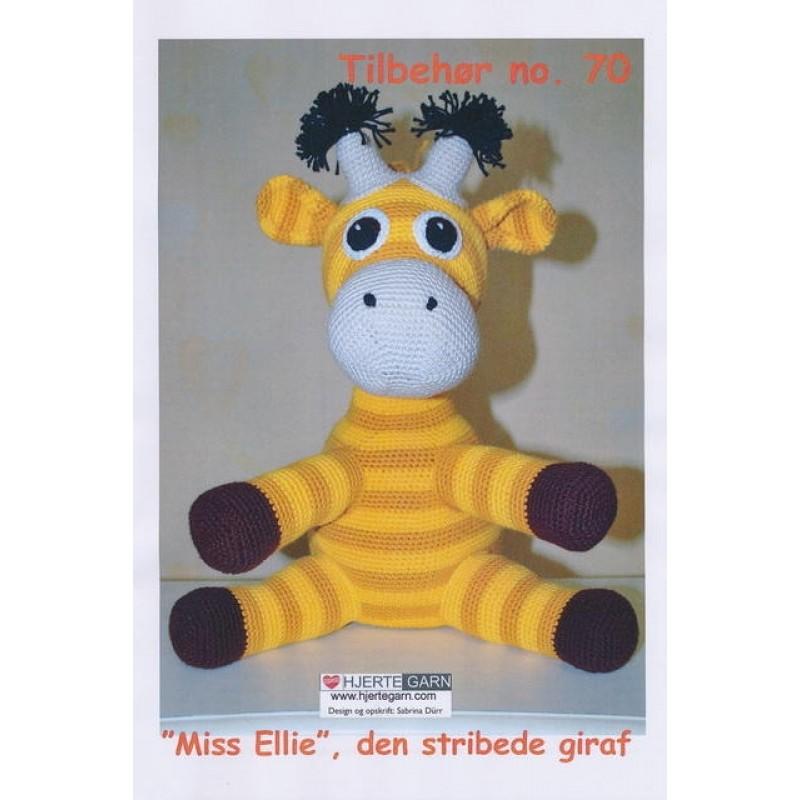Tilbehør no. 70 Miss Ellie, den stribede giraf