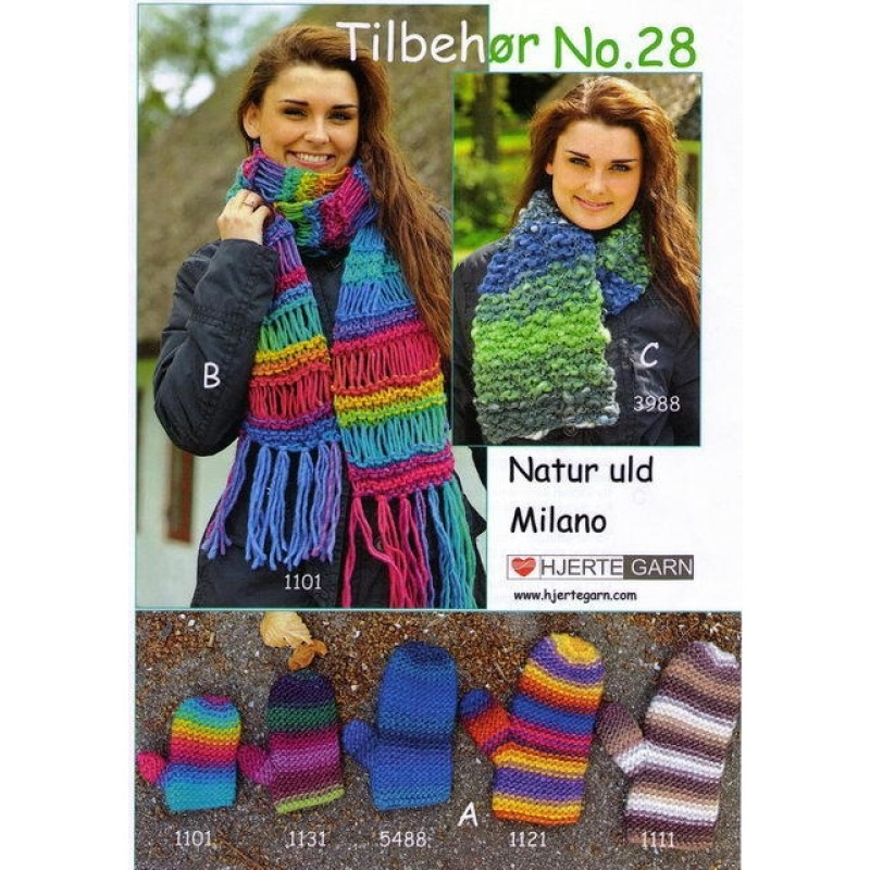 Tilbehør no. 28 halstørklæde/vanter