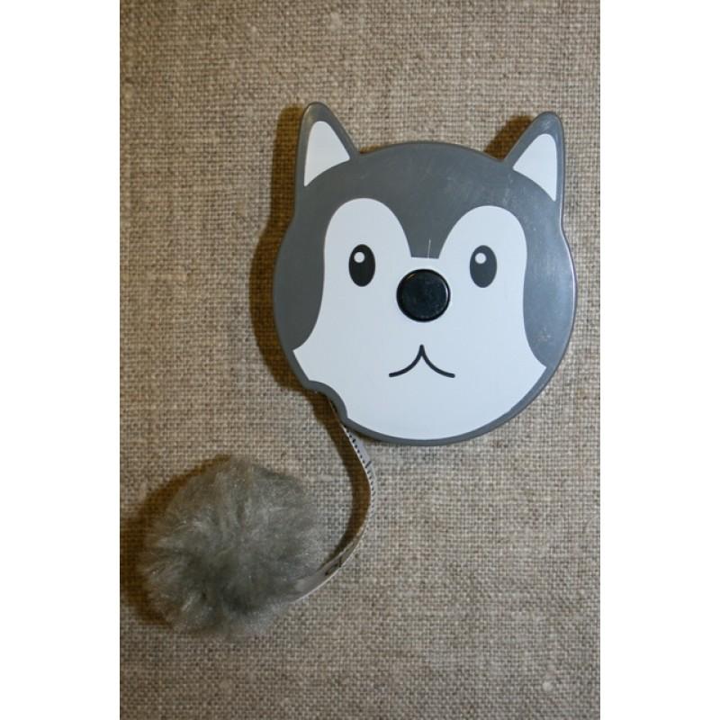 Målebånd i rulle, ulv m/pompom-33
