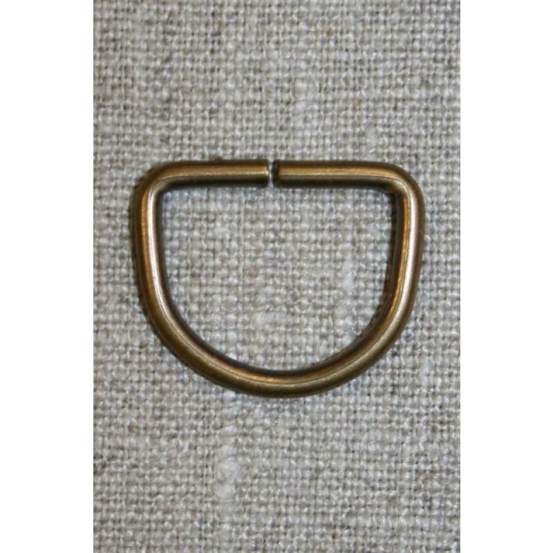D-ring gl.messing, 20 mm.