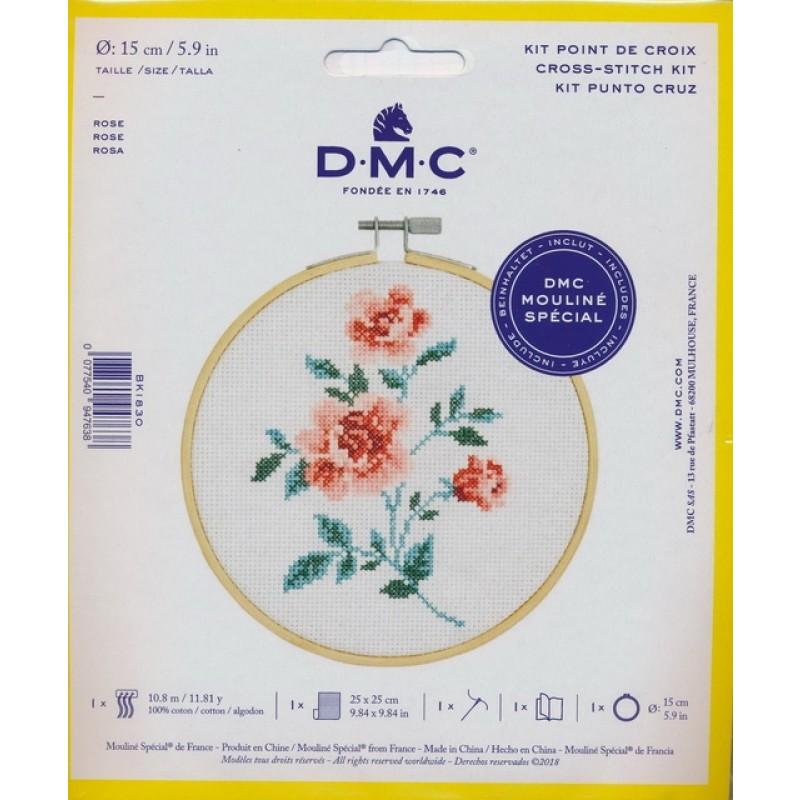 DMC Broderi kit 15 cm. Rose-03