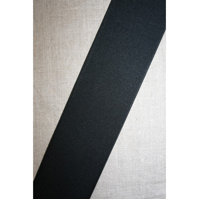 80 mm. kraftig elastik sort