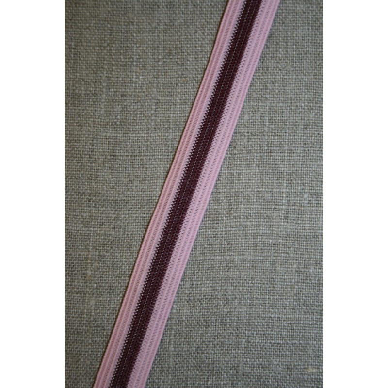 Stribet elastik rosa bordeaux-31