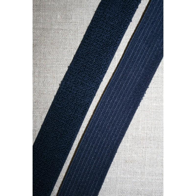 Elastik 30 mm. mørkeblå m/frotte-look-33