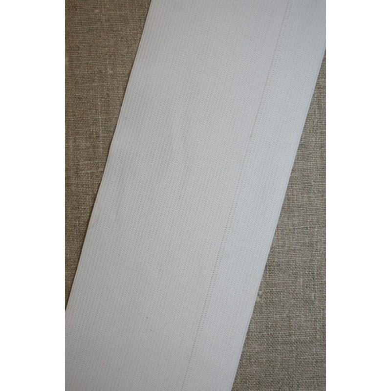 Rest 88 mm. elastik hvid, 2.sort 50 cm.-33