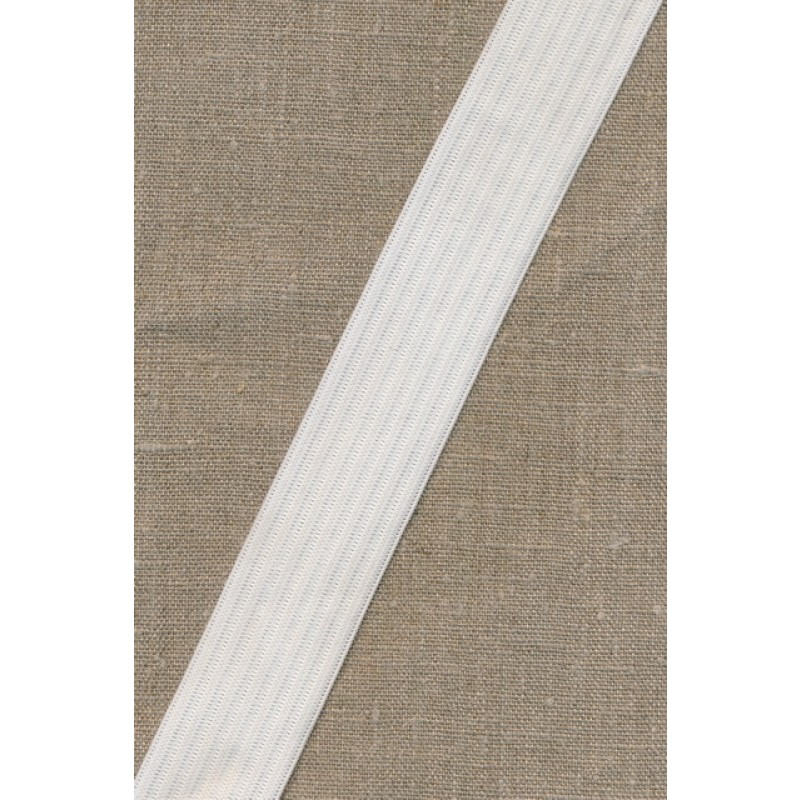 35 mm. hvid elastik med riller