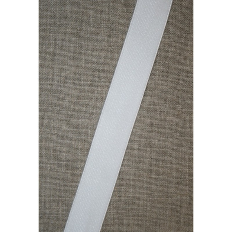 25 mm. elastik hvid blød blank-34