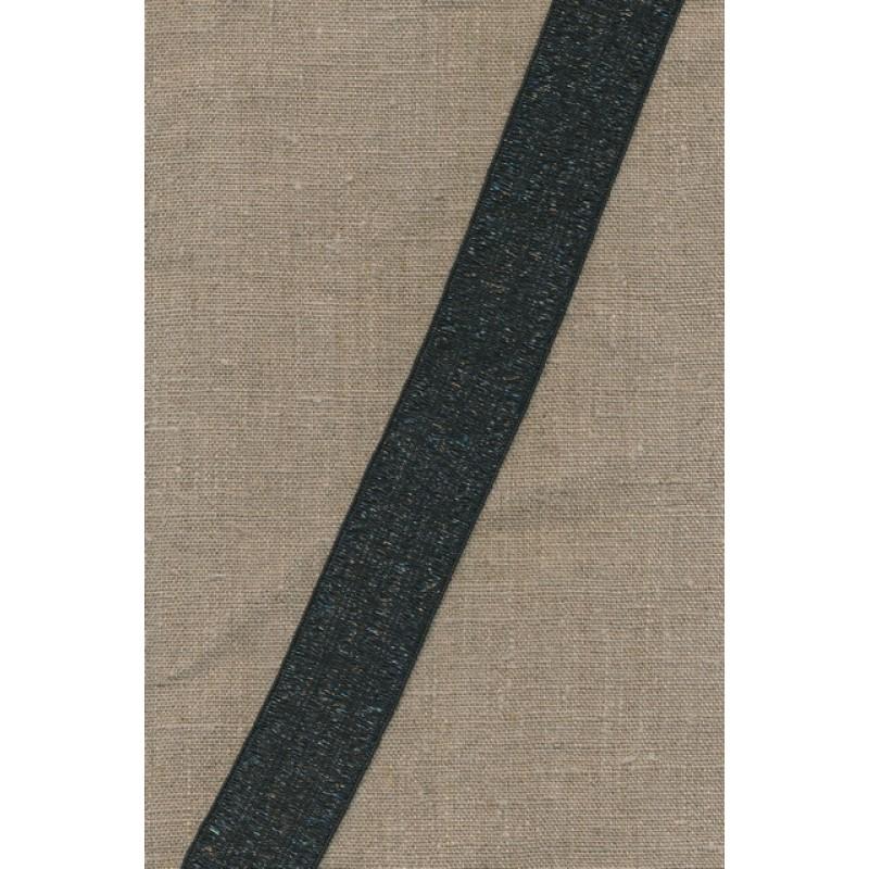 35 mm. koksgrå elastik transperant-33