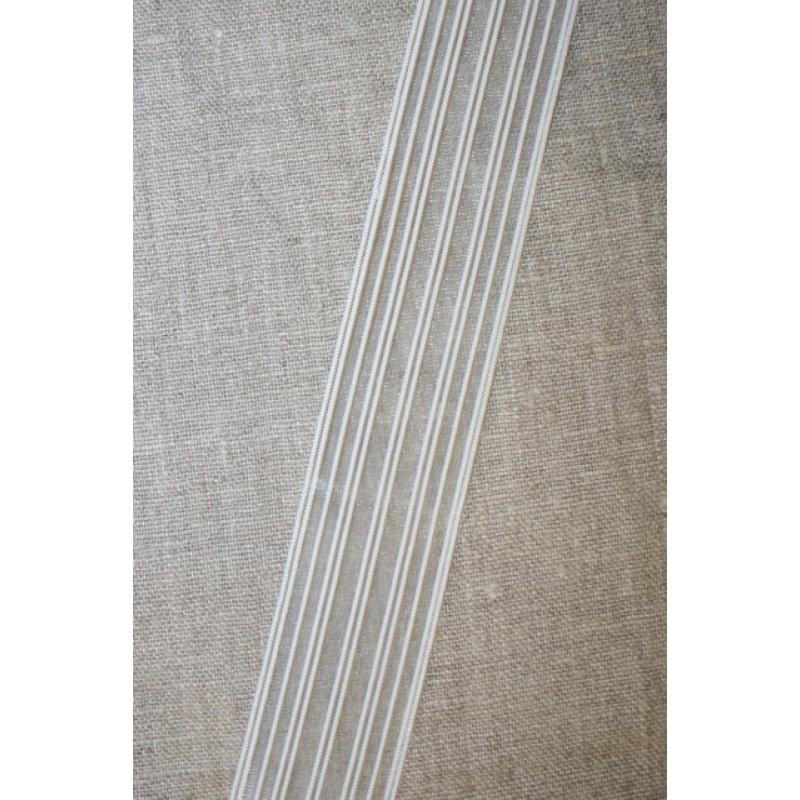 32 mm. elastik hvid - transperant