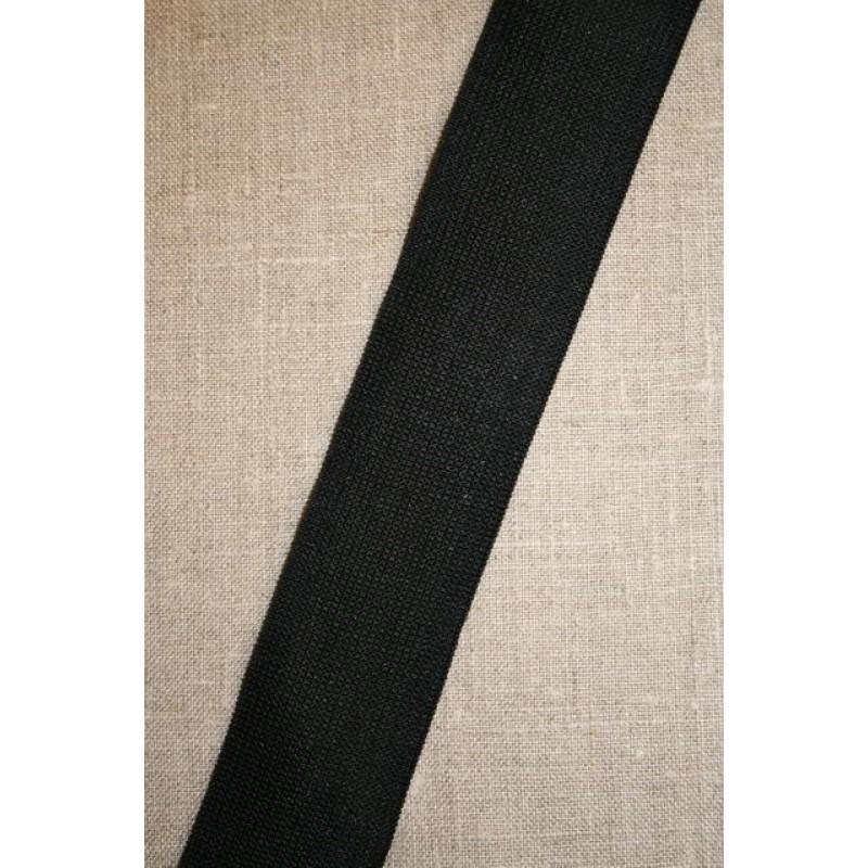 Rest 40 mm. sort elastik, 65-65-50 cm.-33