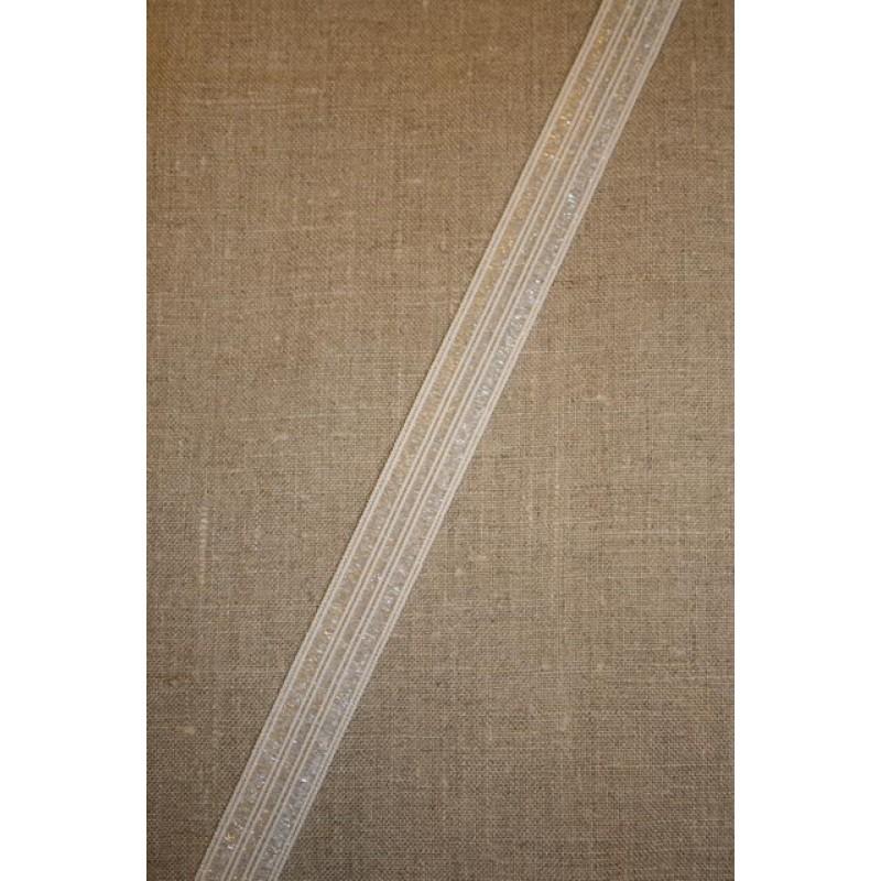 25 mm. elastik hvid-transperant
