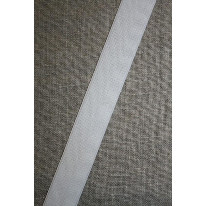 25 mm. elastik hvid-31