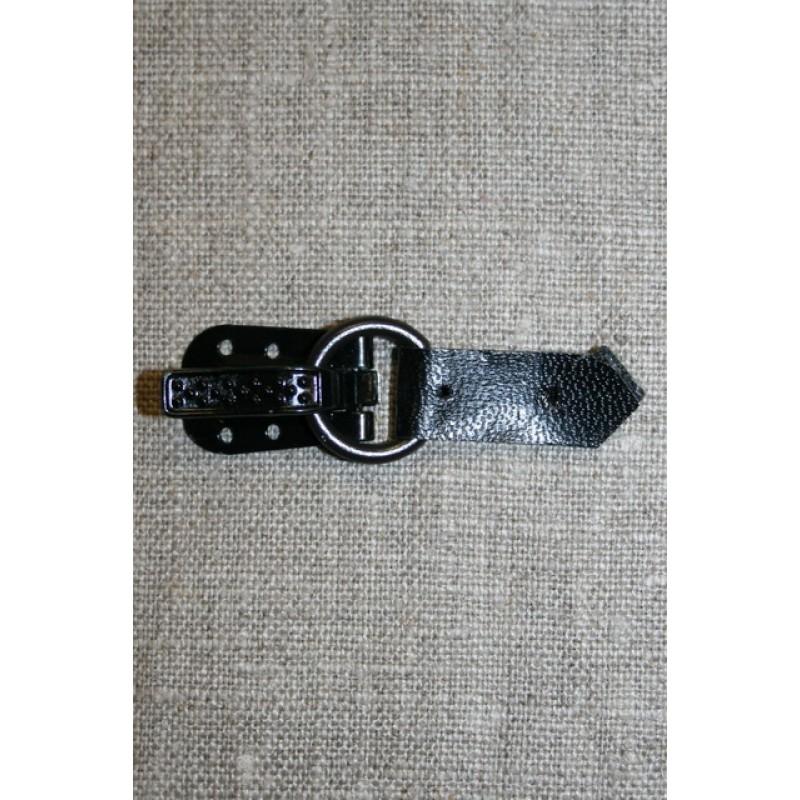 Pelshægt/lukning, sort-31