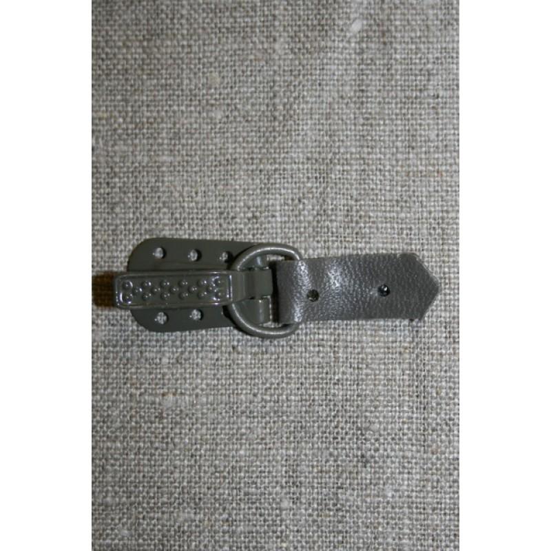 Pelshægt/lukning, grå-31