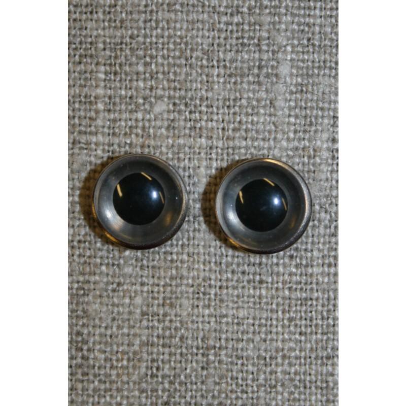 Bamse øje klar/sort 10 mm.-33