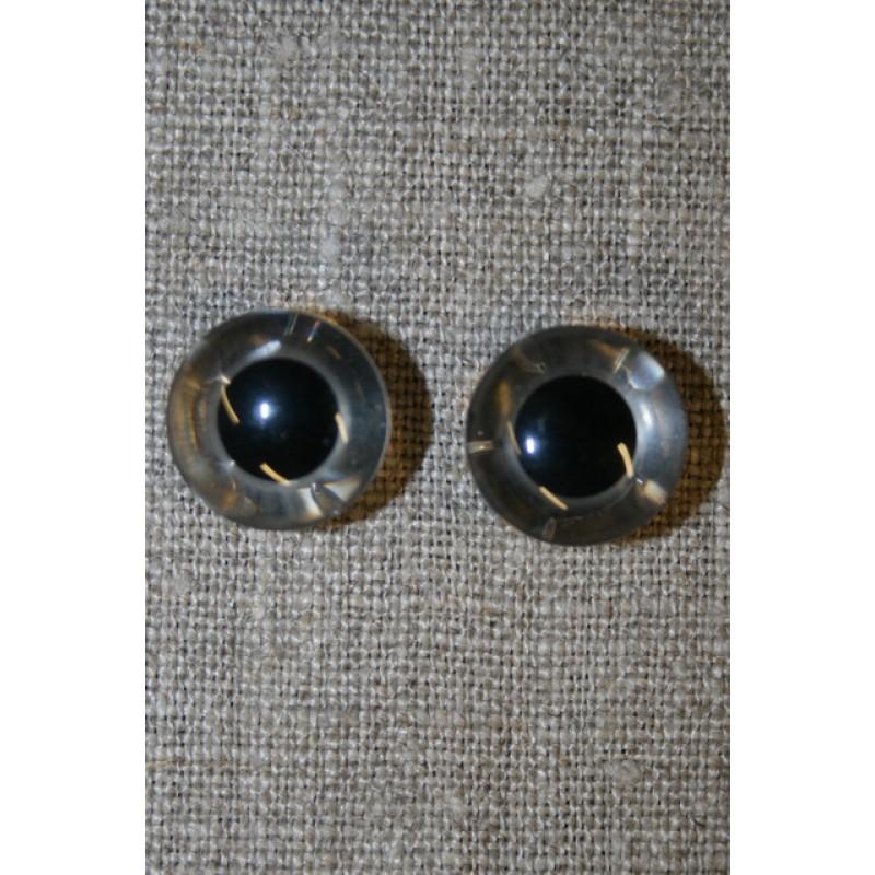 Bamse øje klar/sort 15 mm.-33