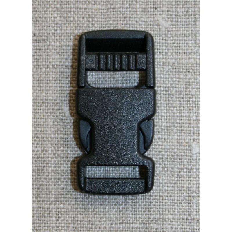 Klik spænde sort 15 mm.-31