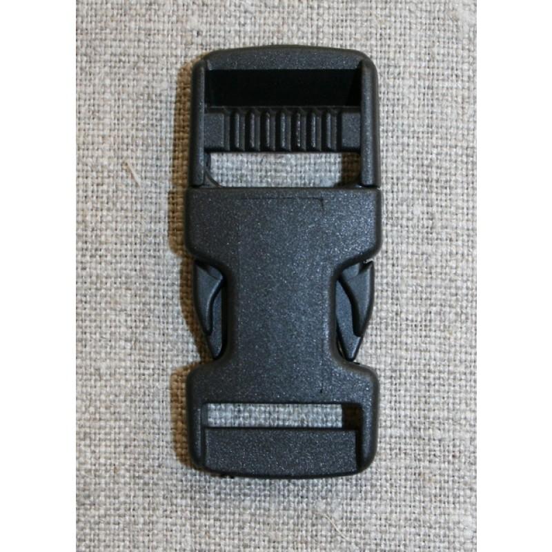 Klik spænde sort 20 mm.-31