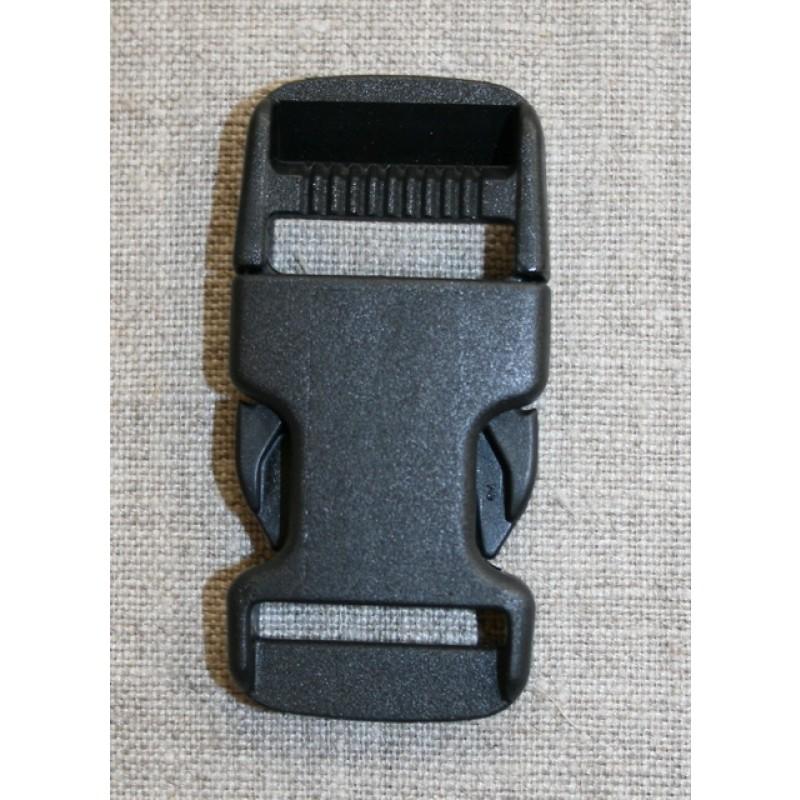 Klik spænde sort 25 mm.-31