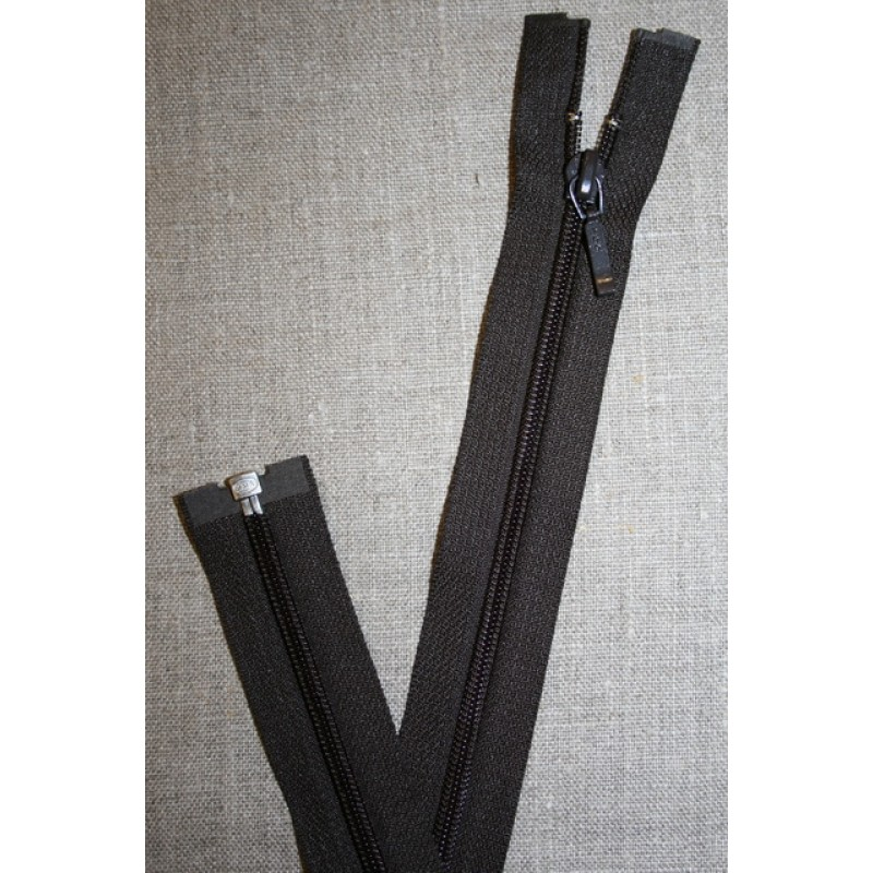 39 cm. delbar lynlås YKK mørkebrun-31