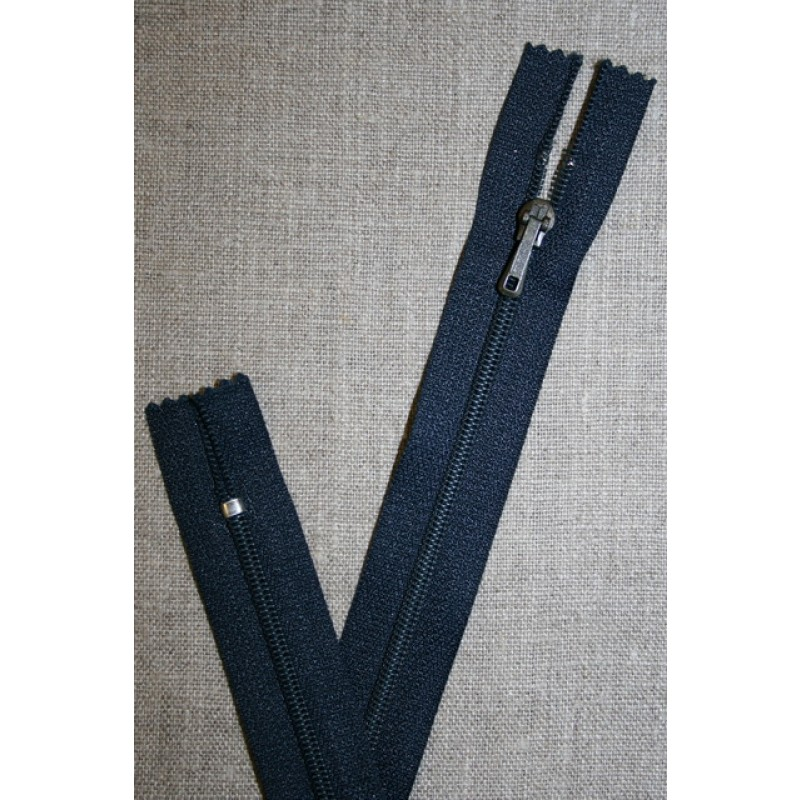 23 cm. lynlås YKK, mørk denim-35