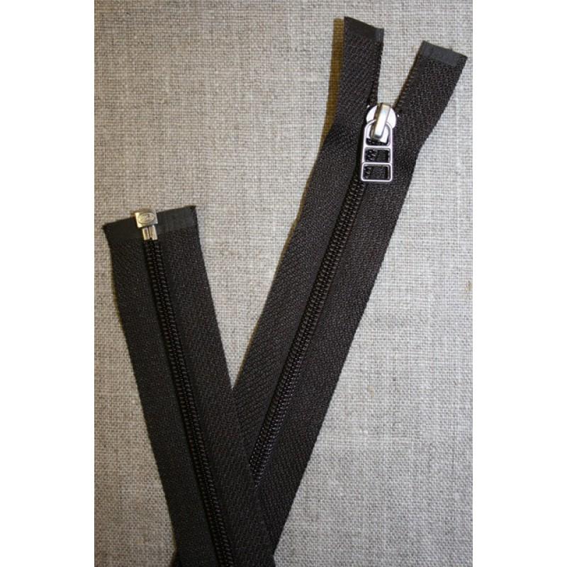 56 cm lynlås YKK mørk grå-brun-31