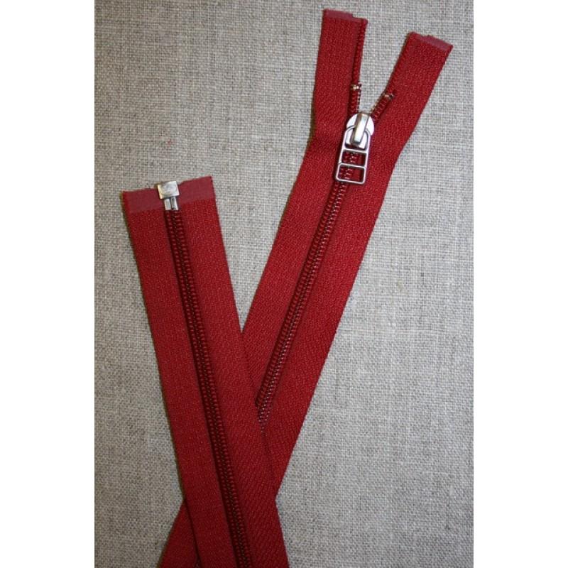 56 cm delbar lynlås YKK rød