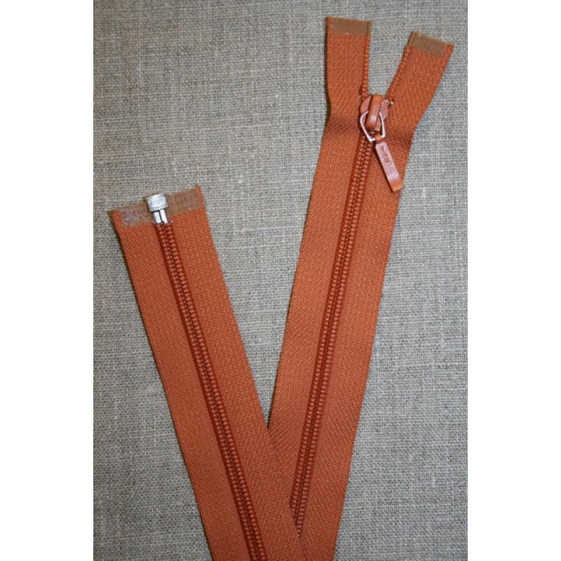 69 cm lynlås YKK, brændt orange-35