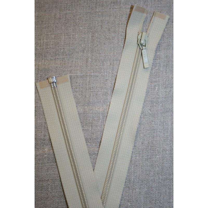 69 cm lynlås YKK, lys oliven/kit