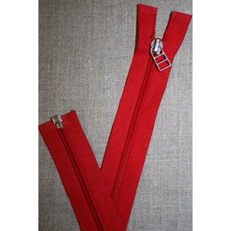 69 cm lynlås m/sølv vedhæng, rød-35