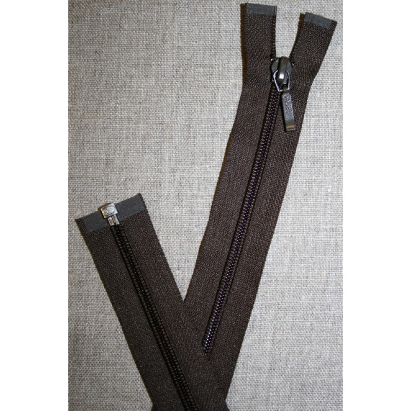 68 cm delbar lynlås YKK, mørkebrun-35