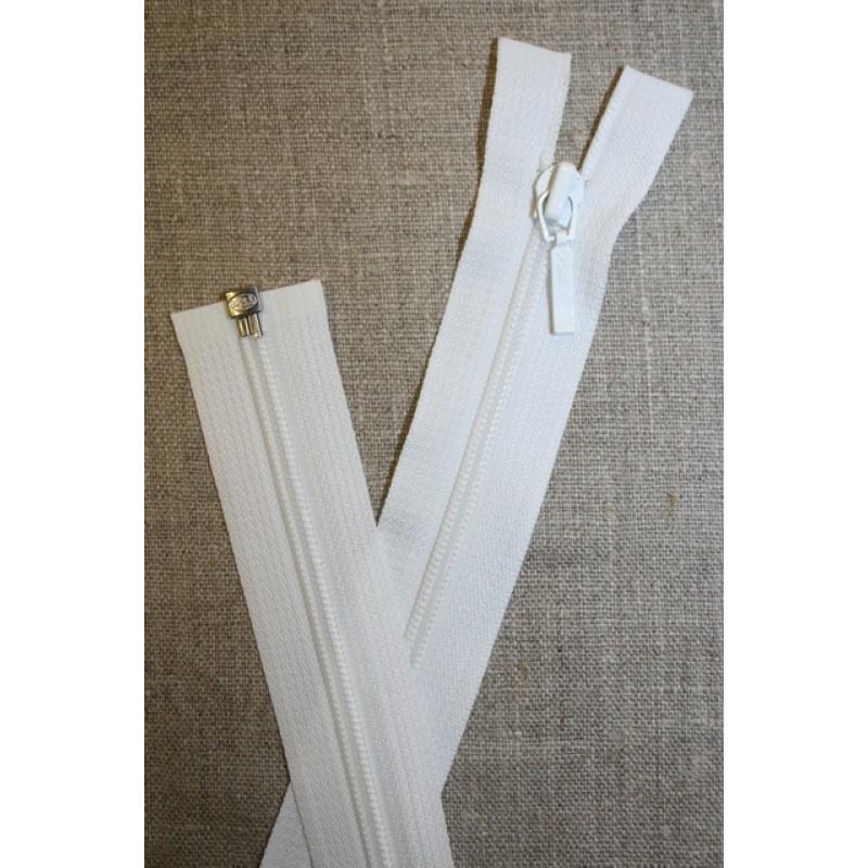 61 cm. delbar lynlås YKK, hvid