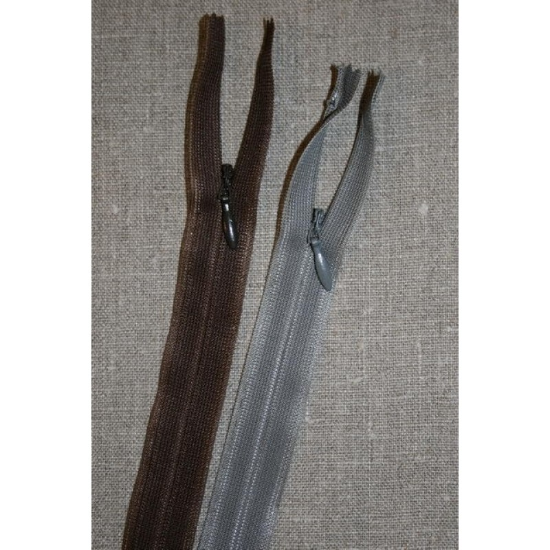 60 cm. usynlig lynlåse