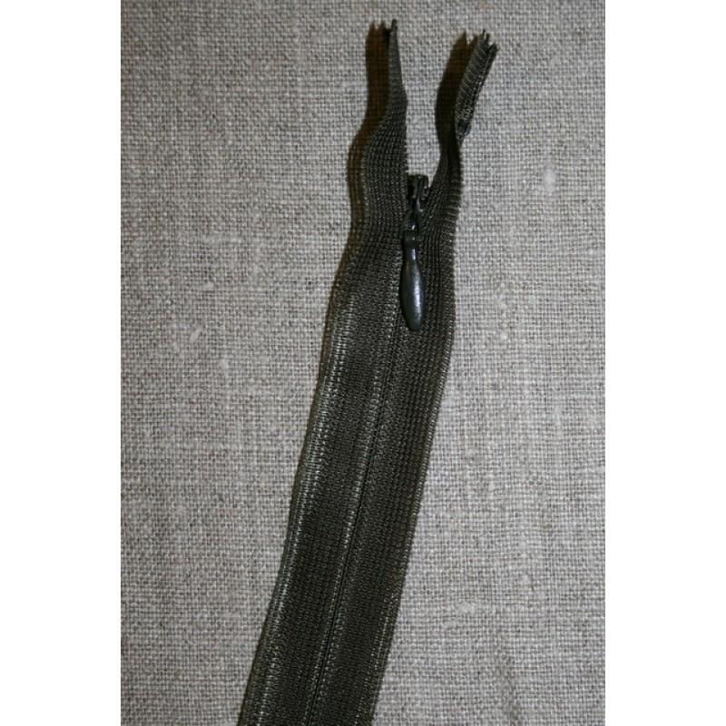 42 cm. usynlig lynlåse, army