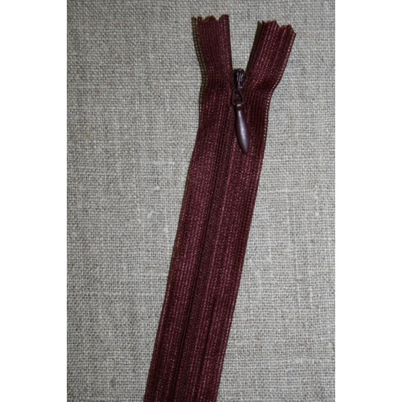 42 cm. usynlig lynlåse, vinrød-33
